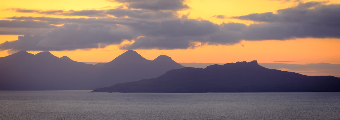A view of the Isles Eigg and Rum from Ardnamurchan | Steven Marshall Photography